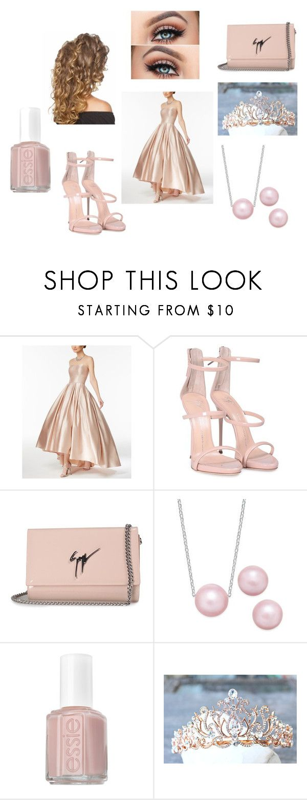 """Pretty in Pink"" by outfit-creator ❤ liked on Polyvore featuring Betsy & Adam, Giuseppe Zanotti and Essie"