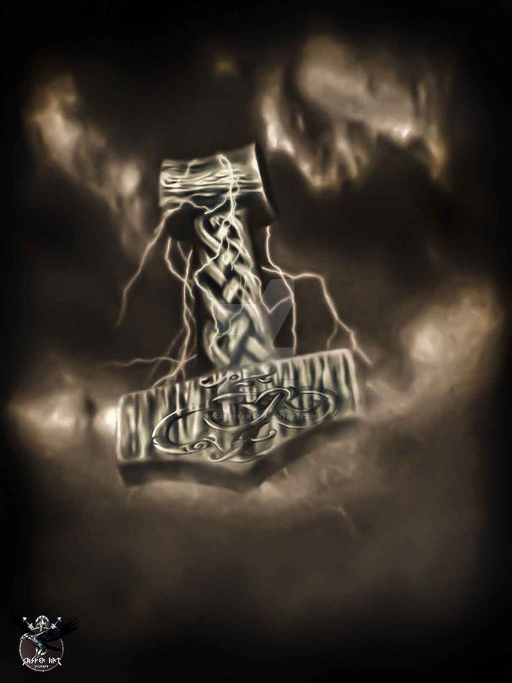 Thor's hammer by thecasperart on DeviantArt