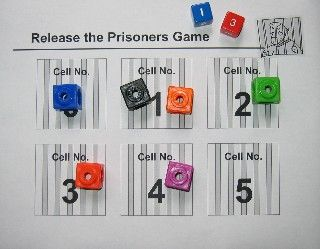 who will free their prisoners first? Students use subtraction facts to find the difference of two dice.   Directions plus both the 6-sided dice and 12-sided dice gameboards are included so teachers can target subtraction practice while helping students develop an intuitive appreciation of probability.