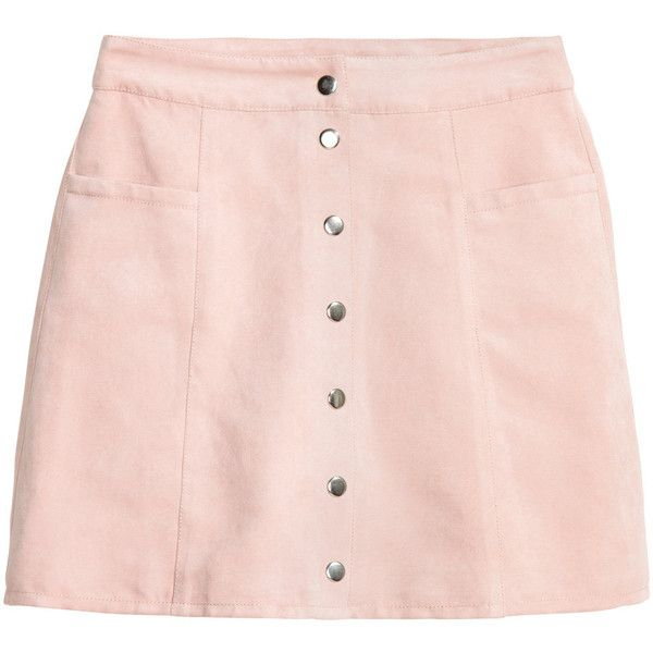 A-line Skirt $24.99 ($25) ❤ liked on Polyvore featuring skirts and pink skirt