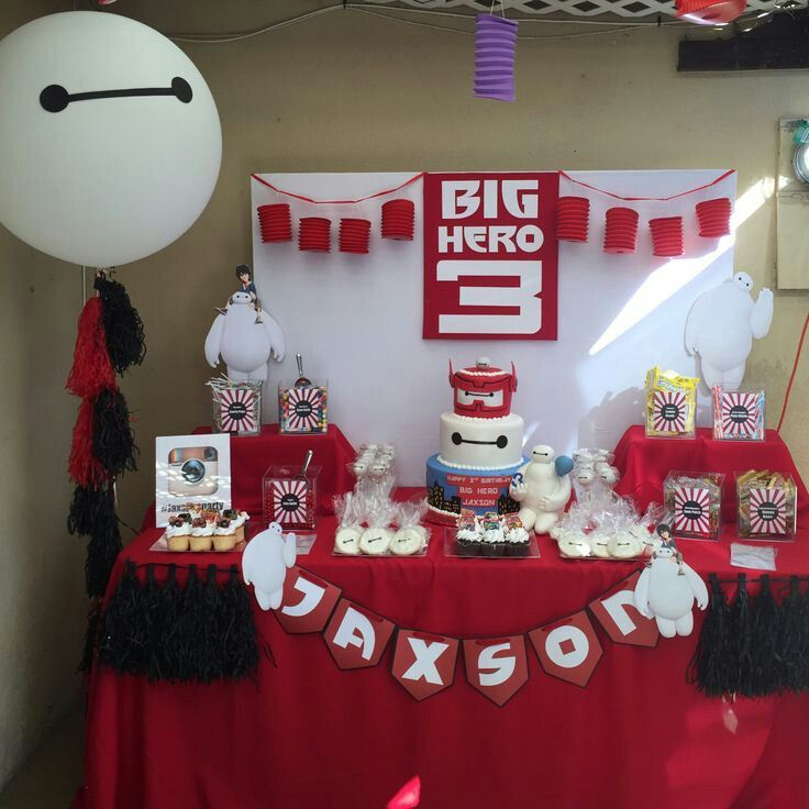 Big hero 6 leland 39 s party pinterest fiestas for Decor 77