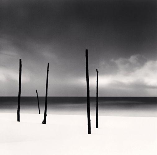 Michael Kenna - Five Poles, Tomamae, Hokkaido, Japan, 2004