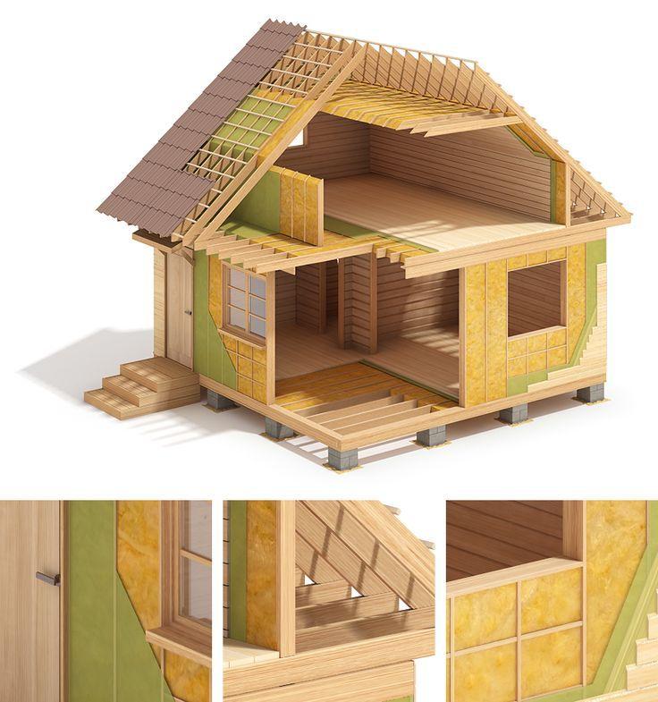 Lht Wood Frame House Construction On Behance Wood Frame House