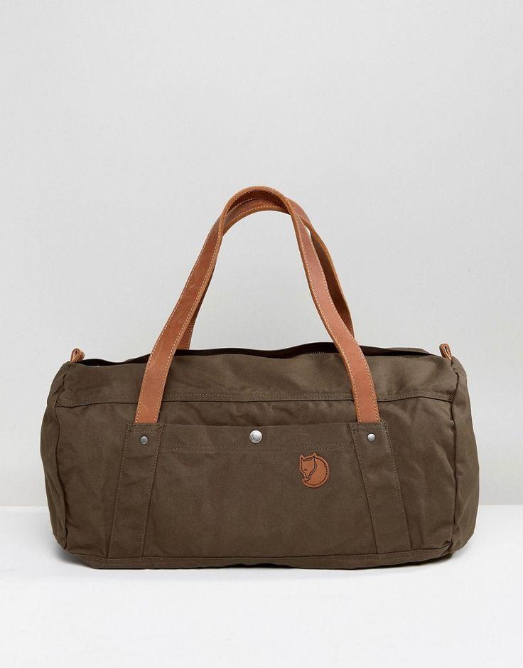 Fjallraven No4 Duffel Bag in Green 30L - Black