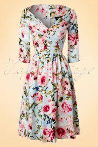 Vixen Blue Floral Swing Dress 102 39 17968 20160215 0008W