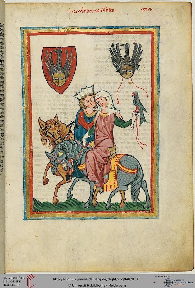 Cod. Pal. germ. 848  Große Heidelberger Liederhandschrift (Codex Manesse)  Zürich, ca. 1300 bis ca. 1340 Folio: 69r