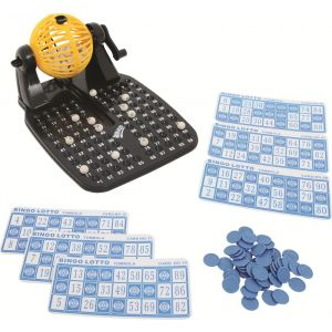 0517.6 - Bingo Show | Contém 24 cartelas e 90 números. Dispensador automático de bolinhas. | Faixa Etária: 6 anos + | Medidas: 19 x 9 x 24,5 cm | Jogos e Brinquedos | Xalingo Brinquedos | Crianças