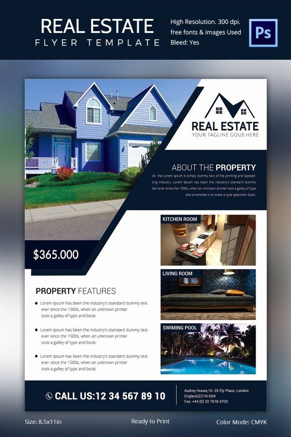 House For Sale Brochure Template Awesome Real Estate Flyer Template 37 Free Psd Ai Vector E Real Estate Flyer Template Real Estate Brochures Real Estate Flyers
