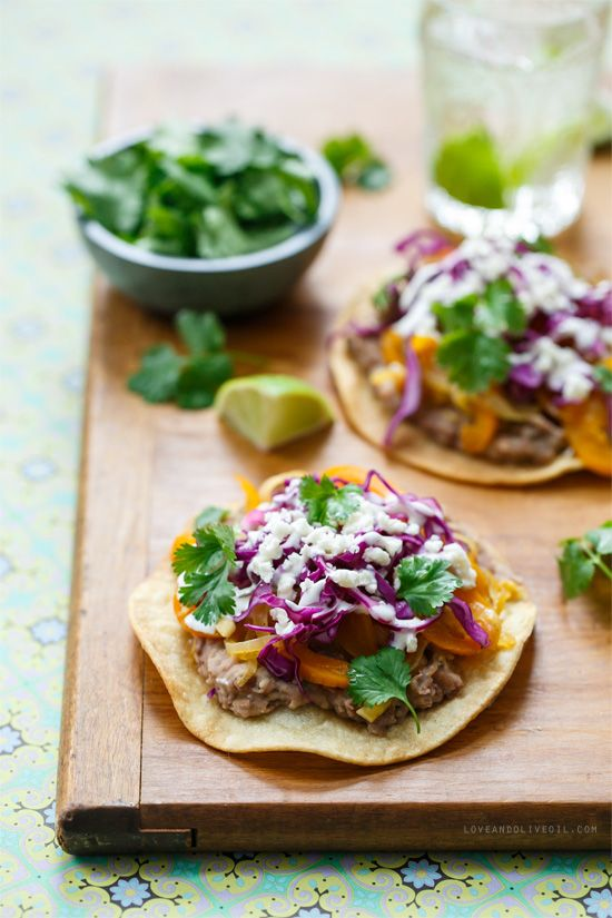 Check out Vegetable and Bean Tostadas. It's so easy to make! | Dinner ...