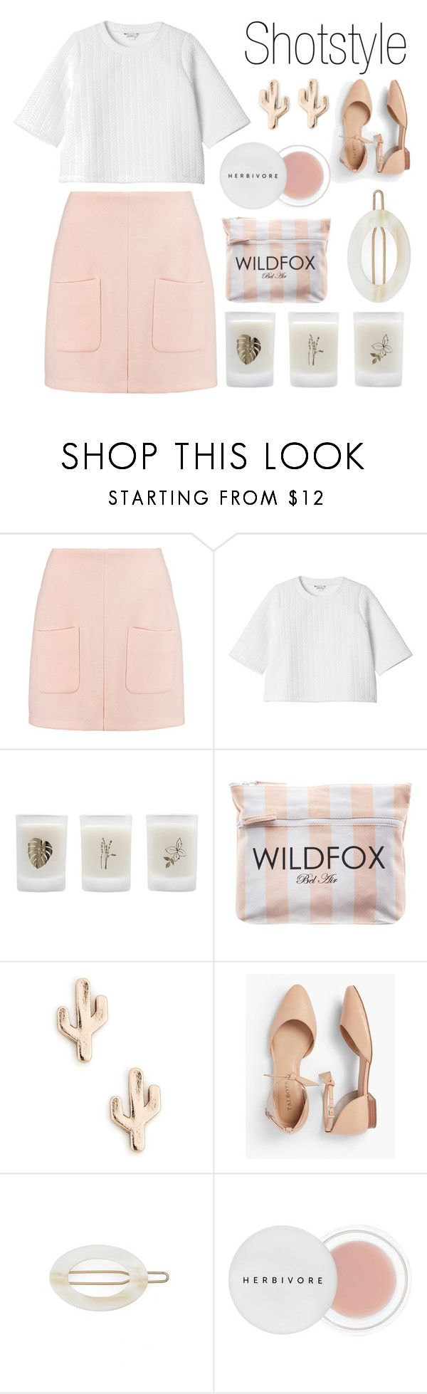 """""""Be pink!"""" by shotstyle ❤ liked on Polyvore featuring See by Chloé, Monki, Elizabeth Scarlett, Wildfox, Sole Society, Talbots, France Luxe and Herbivore"""