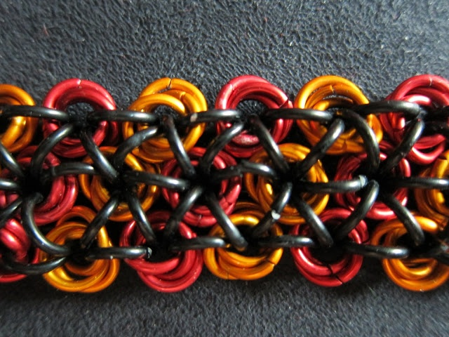 Orange and Red Mobius Chainmaille Set