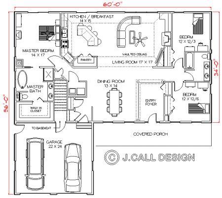 42 best garage images on pinterest for Colonial floor plans open concept