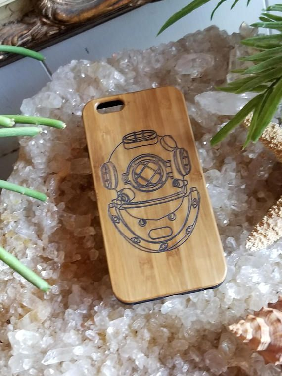 Deep Sea Diver's Helmet bamboo wood case for iPhone 6