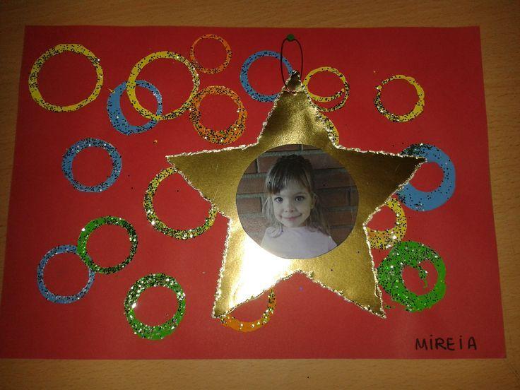 Tapa álbum escolar estrella de navidad con foto