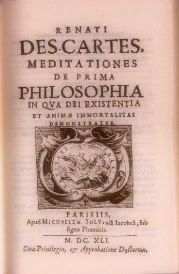 Meditaciones Metafísicas R. Descartes  Filosofía y Racionalismo  Filosofía Moderna  Adolfo Vásquez Rocca PHD.
