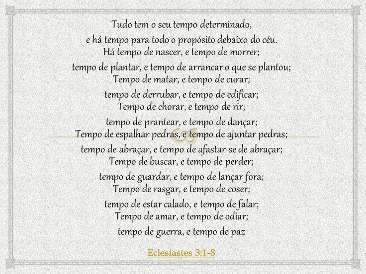 Eclesiastes 3:1-8
