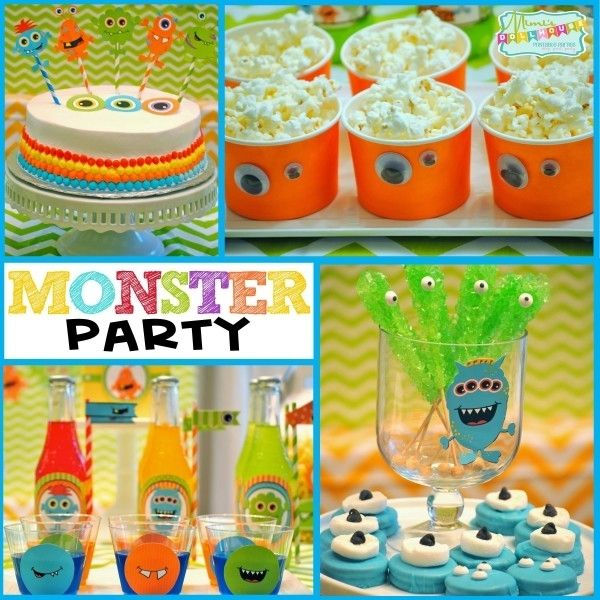 Monster Birthday Party Idea www.spaceshipsandlaserbeams.com