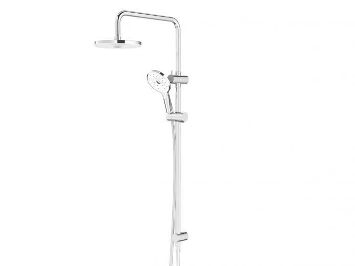Twin Square Rail Shower White