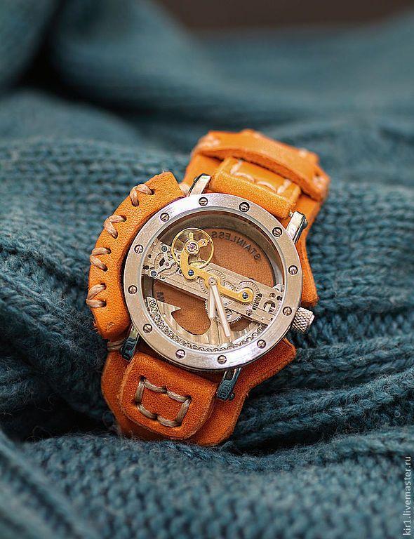 """Купить Часы женские """"LADY-STEAM"""" - коричневый, часы наручные, часы женские, стимпанк"""