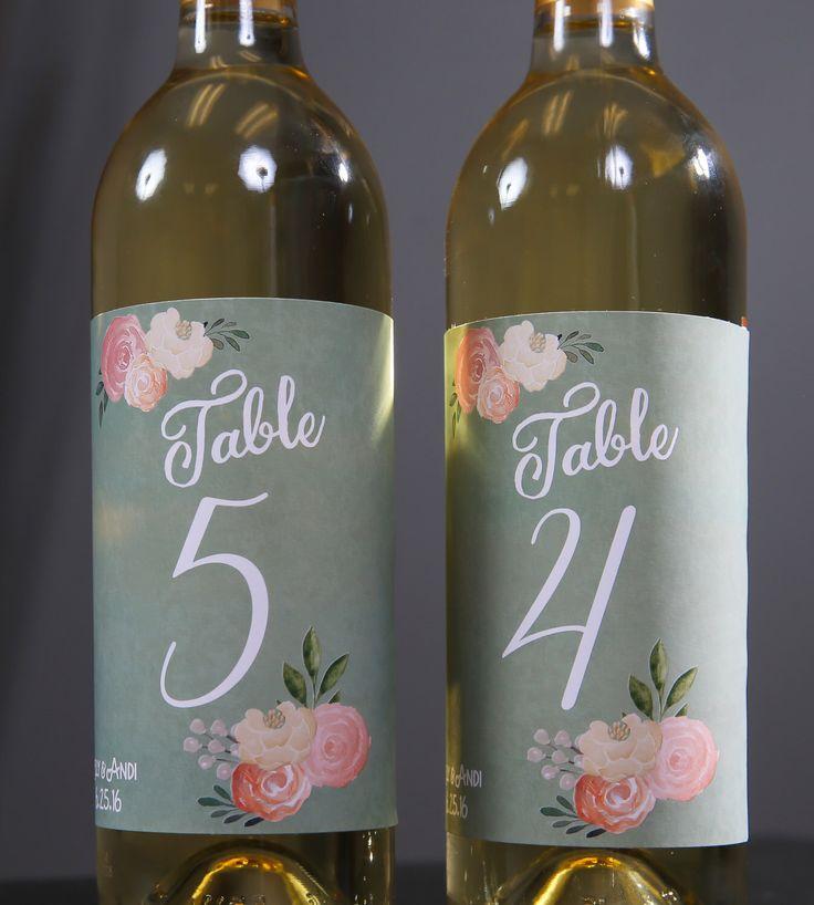 Wedding Table Numbers // Wedding Table Number Signs // Sage Green Wedding…