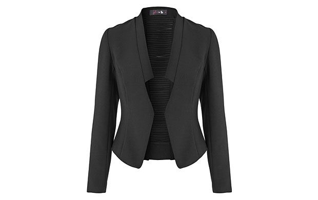 """Ladder Stitch Jacket. """"Razor-sharp tailoring adds edge to a classic black jacket, whether you team it with your favourite jeans or to finish off an ultra-glamorous look."""""""