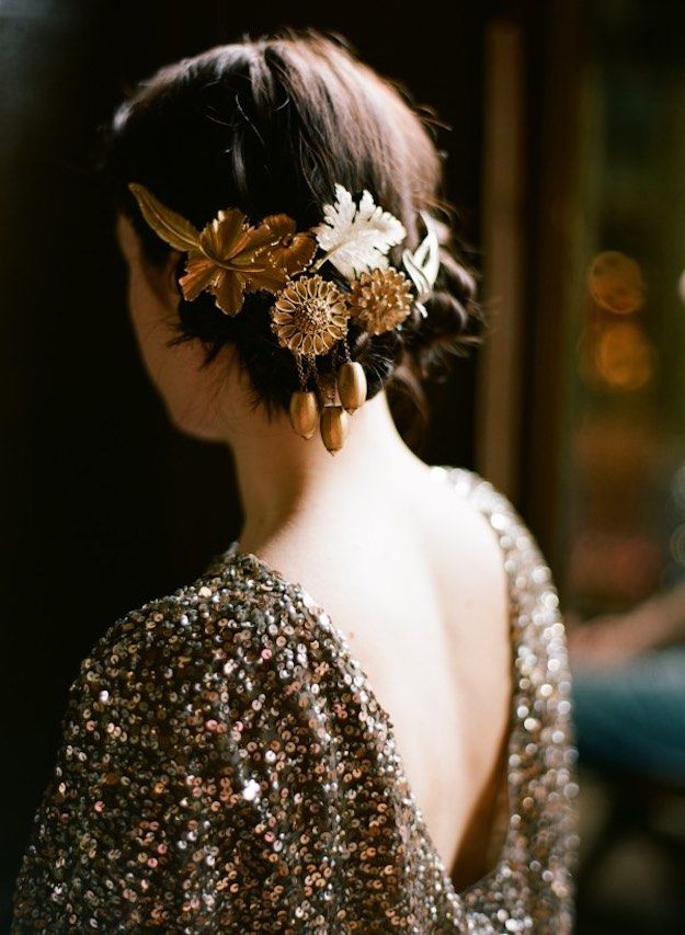 Golden Hair Accessory   DIY Accessories You Can Do In the Comfort of Your Couch This Winter