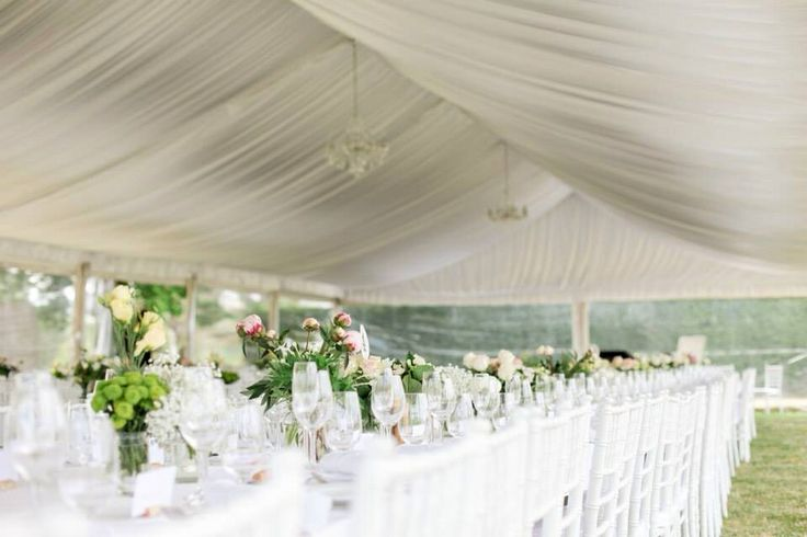 Pretty wedding marquee by Mac-Hire