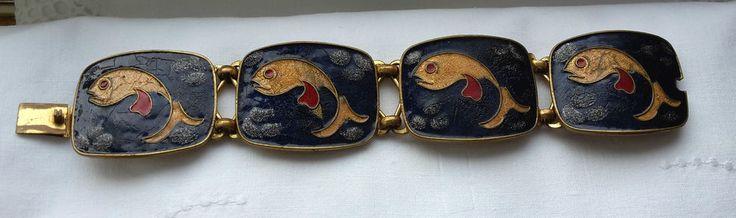 *��*Emaille Armband Vintage 60er70er Boho *��* Émail Cloisonné Bracelet *��*
