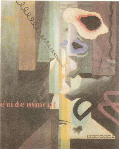 Julius Evola (1898 - 1974) |  Dada | Composizione (Paesaggio) Dada n. 3 (o n. 2) - 1921