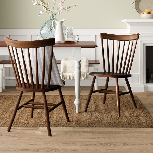 Jenson Solid Wood Side Chair In 2020 Wood Side Chair
