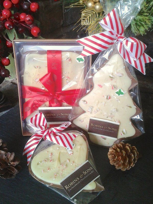 Belgian chocolate with mint candy cane - Mint Chocolate Crackle