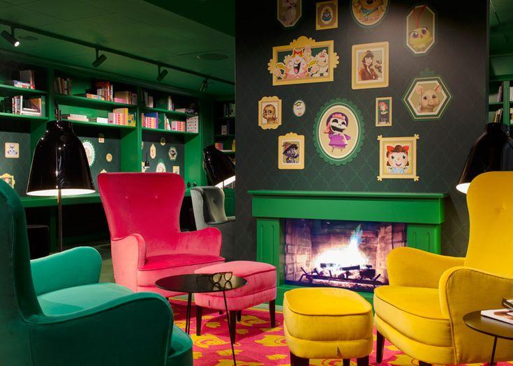 Les bureaux très colorés de Candy Crush à Stockholm