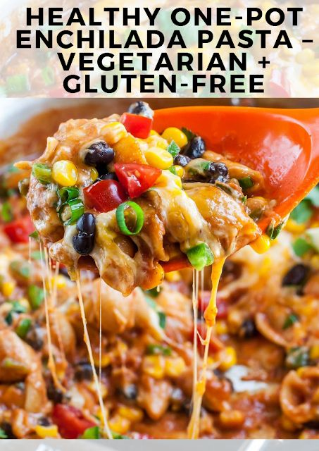 Healthy one-pot enchilada pasta, Healthy Recipes, Easy, Meal Prep, Low Carb, Veg…