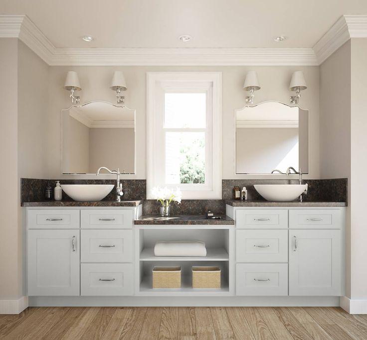 Frosted White Shaker Bathroom Vanity