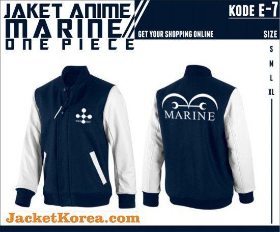 jual jaket anime murah one piece marine kode  e-7
