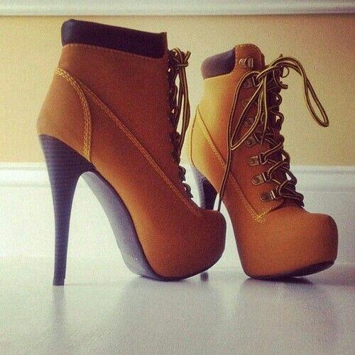 Pretty fashion shoes high heels brown fancy schoenen hakken