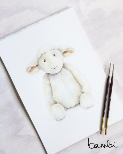 Wool you be mine? This toy lamb is full of personality and will liven up a nursery space, without compromising it's colour palette. A soft, tranquil addition to a kids room.