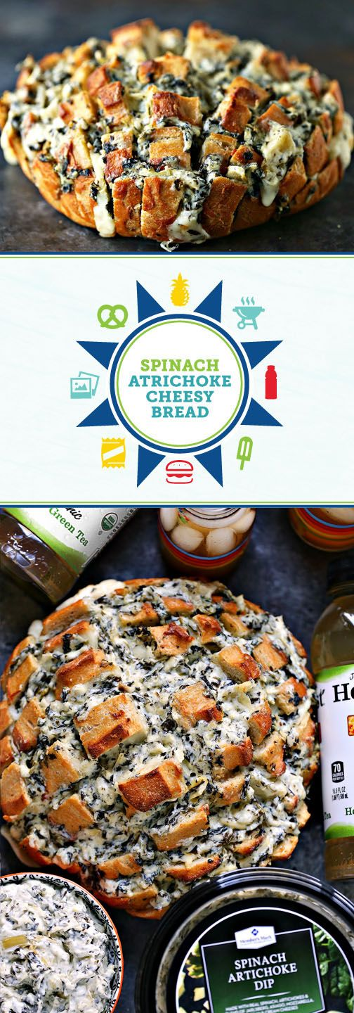 Summer entertaining is right around the corner—which means it's time to stock up on all the party essentials and recipe inspiration you'll need! And this dish for Spinach Artichoke Cheesy Bread is a great place to start. Pick up all the ingredients you'll need for your outdoor get-together—like refreshing Honest® Tea —at Sam's Club to get started. Did we mention that you can make this side dish on the grill? How fun!