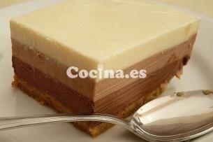 Tarta rápida tres chocolates > http://tarta-rapida-tres-chocolates.recetascomidas.com/