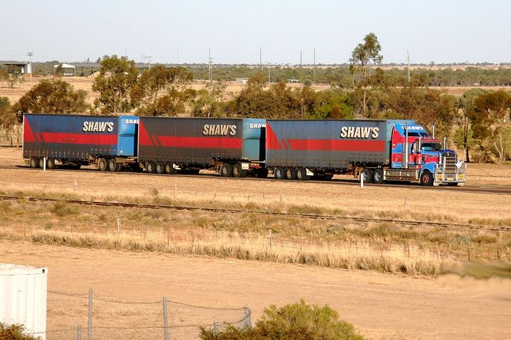 Road Trains Australia Road Trains Such as This One