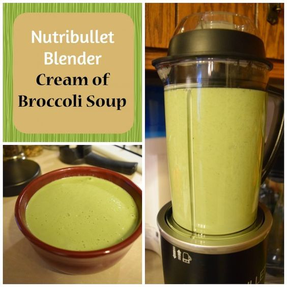 Nutribullet Rx cream of broccoli soup recipe. The new Nutribullet Rx makes making soup in a blender easy! This broccoli soup recipe can also be made in a regular blender and heated or run long enough for the blender blade action to heat it.