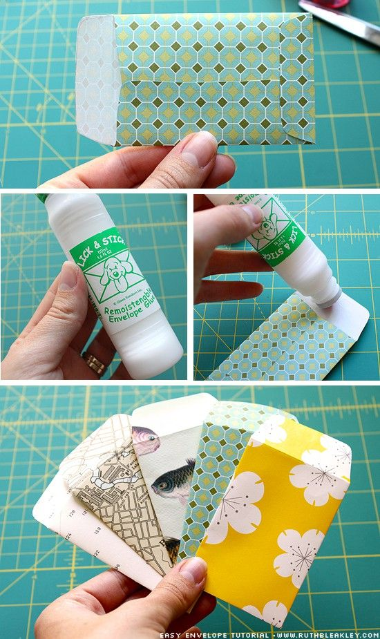 DIY Envelopes... must find this envelope sealing glue!