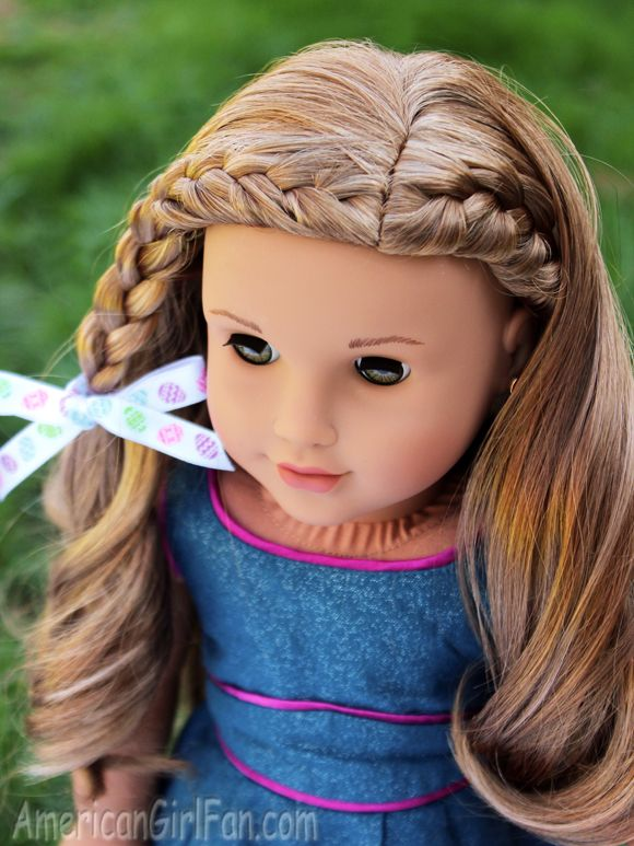 Braided Doll Hairstyle For Easter! - http://www.americangirlfan.com/2016/03/american-girl-doll-hairstyle-for-easter.html