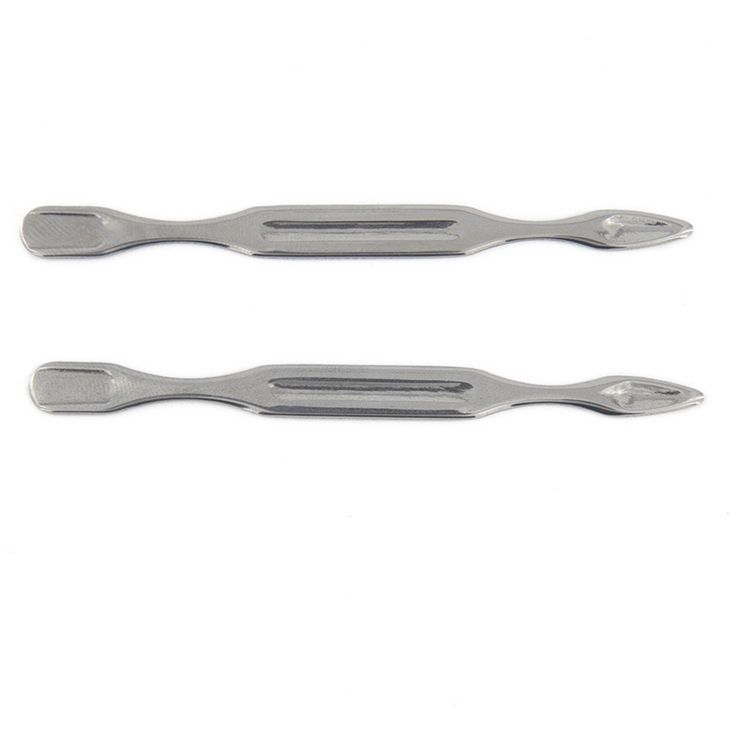 Yeshan Stainless Steel Cuticle Pusher Trimmer Spoon Shape Nail Cleaner for Manicure and Pedicure,Pack of 2 -- You can find out more details at the link of the image.