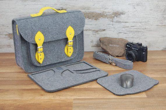 MacBook Pro 13 inch bag, vegan bag, satchel, Laptop bag, case, felt messenger bag