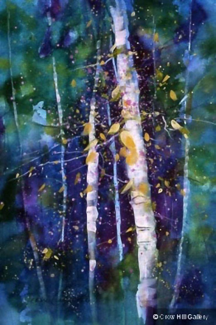 Watercolor artist magazine palm coast fl - Trees By Jeanne Carbonetti Vermont Watercolor Artist