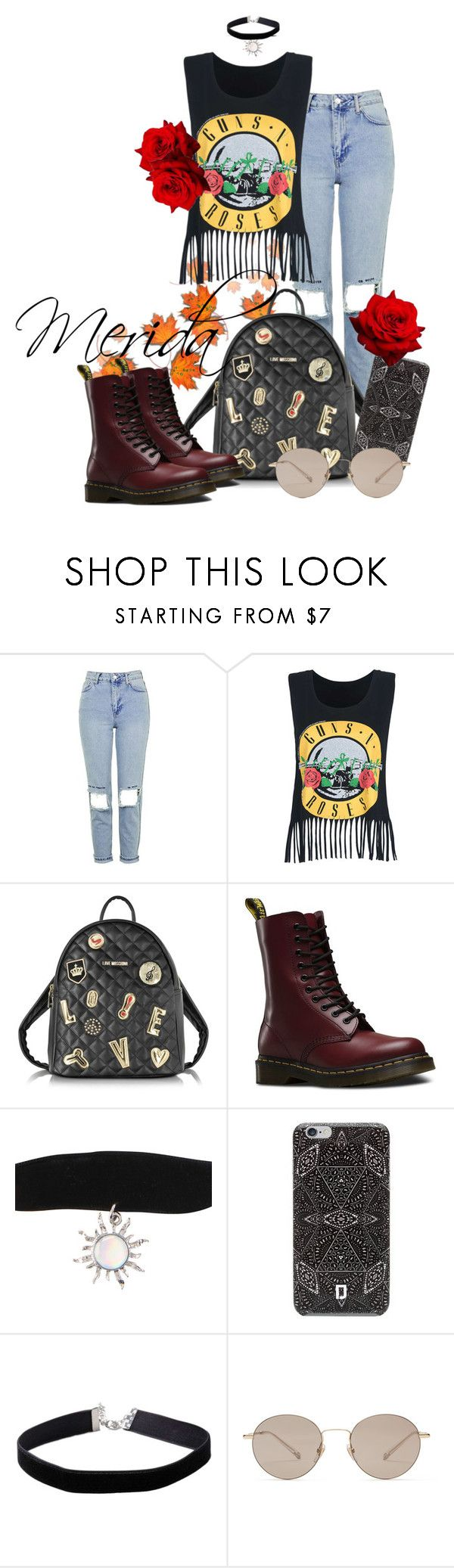 """Merida"" by grraciie-386 on Polyvore featuring Topshop, Love Moschino, Dr. Martens, DANNIJO, Miss Selfridge and Gucci"