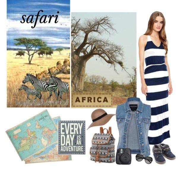 Africa by farka-id on Polyvore featuring Splendid, UNIONBAY, River Island, Yves Saint Laurent and Cavallini & Co.