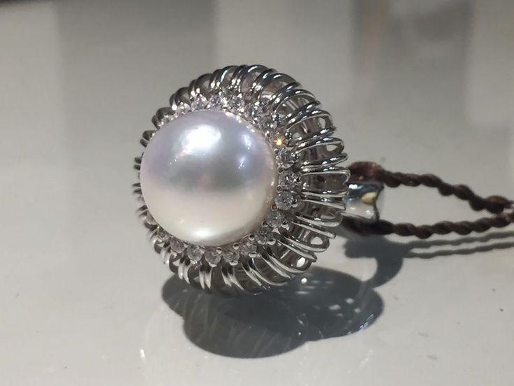 Clesi Gioielli Anello con Perla e Diamanti Ring with Pearl and Diamonds