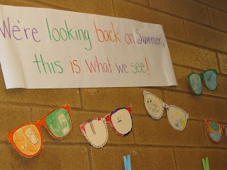 Good idea for back to school display or switch the wording to say, We're looking forward to summer, this is what we see! for end of the year.